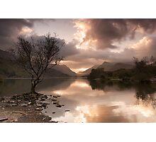Sunrise over Llyn Padarn Photographic Print