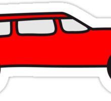 Comic Car Sticker