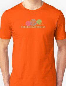 Crayon balls of yarn funny knitting crochet t-shirt Unisex T-Shirt