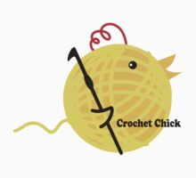 Crochet chick crochet hook ball of yarn funny t-shirt Kids Clothes