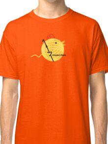Crochet chick crochet hook ball of yarn funny t-shirt Classic T-Shirt