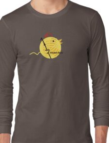 Crochet chick crochet hook ball of yarn funny t-shirt Long Sleeve T-Shirt