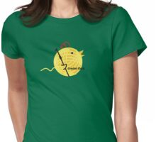 Crochet chick crochet hook ball of yarn funny t-shirt Womens Fitted T-Shirt