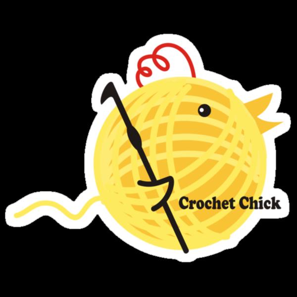 Crochet chick crochet hook ball of yarn funny t-shirt by BigMRanch