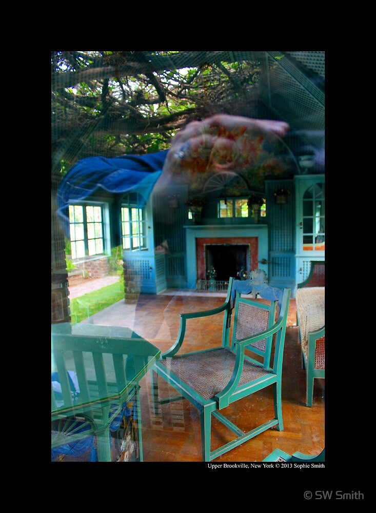 Vintage Turquoise Furniture - Planting Fields Arboretum State Historic Park - Upper Brookville, New York by © Sophie W. Smith
