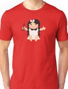 Cute handmade doll toy sewing seamstress t-shirt Unisex T-Shirt