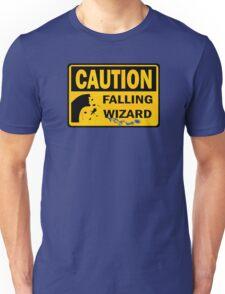 Caution: Falling Wizard Unisex T-Shirt