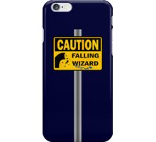 Caution: Falling Wizard iPhone Case/Skin