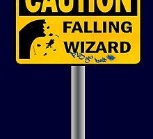 Caution: Falling Wizard by Nana Leonti