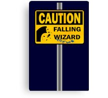 Caution: Falling Wizard Canvas Print