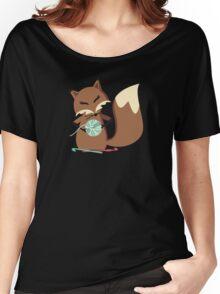 Cute fox crochet hooks fluffy yarn t-shirt Women's Relaxed Fit T-Shirt
