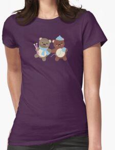 Cute kawaii bears knitting needles yarn t-shirt T-Shirt