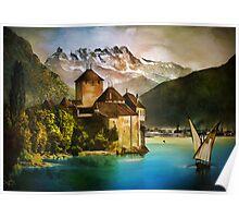 Chillon Castle Poster