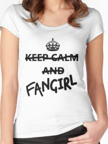 Keep Calm and Fangirl Women's Fitted Scoop T-Shirt