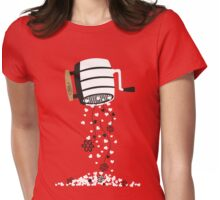 flour sifter hearts and flowers baking bakery t-shirt Womens Fitted T-Shirt