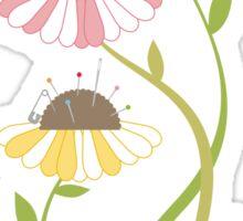 Flower pincushions sewing seamstress t-shirt Sticker