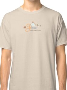 plays with scissors funny sewing seamstress t-shirt Classic T-Shirt