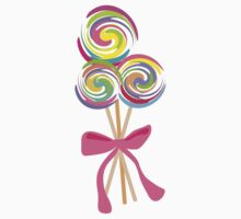 giant swirly lollipops candy bow t-shirt Kids Clothes