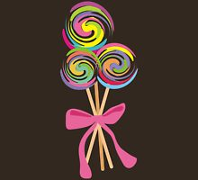 giant swirly lollipops candy bow t-shirt Womens Fitted T-Shirt