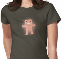 Hand stitched handmade toy monster stuffy Womens Fitted T-Shirt