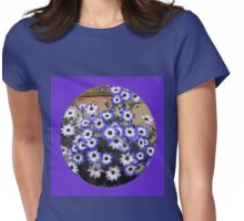 Sweet Cinerarias - Floral Vignette Womens Fitted T-Shirt