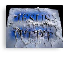 JESUS WEPT 3D Canvas Print