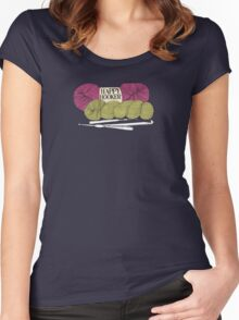 happy hooker crochet hook yarn hank skein Women's Fitted Scoop T-Shirt