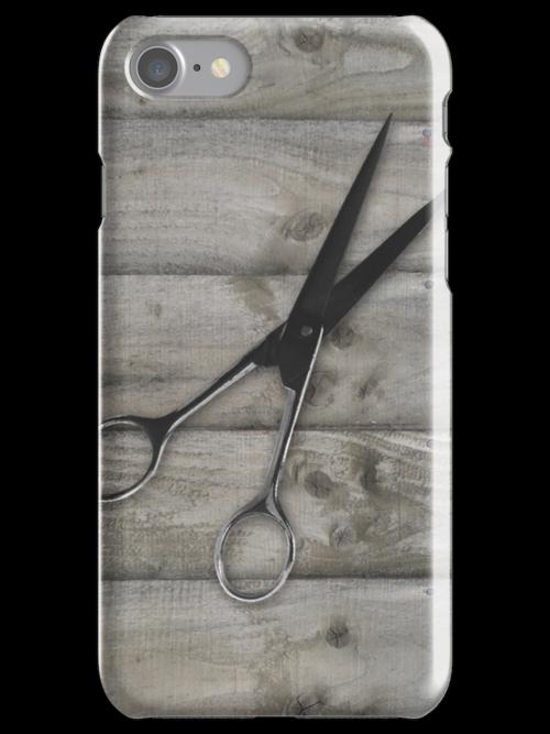 wood grain hair stylist scissors shears by hellohappy