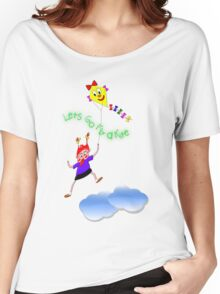 Lets Go Fly a Kite T-shirt Women's Relaxed Fit T-Shirt