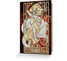 Rule 63: Ninetails Greeting Card