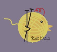 knitting needles knit chick ball of yarn Kids Tee