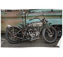 Rusty Indian Scout Bobber Poster