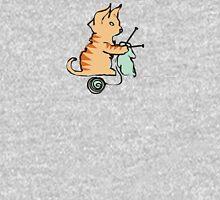 Cute cat knitting needles ball of yarn Womens T-Shirt