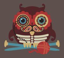 knitting needles owl paisley mustache steampunk skeleton One Piece - Short Sleeve