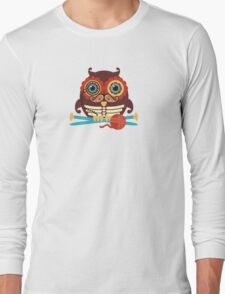 knitting needles owl paisley mustache steampunk skeleton Long Sleeve T-Shirt