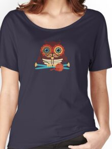 knitting needles owl paisley mustache steampunk skeleton Women's Relaxed Fit T-Shirt