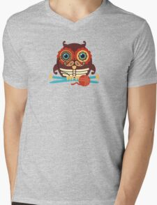 knitting needles owl paisley mustache steampunk skeleton Mens V-Neck T-Shirt