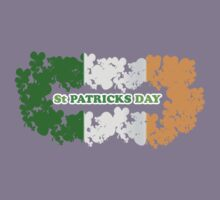 St Patricks Day Flag Clovers by CarbonClothing