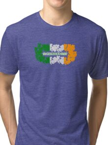 St Patricks Day Flag Clovers Tri-blend T-Shirt