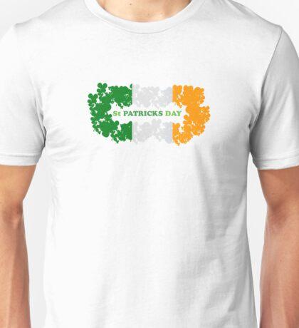 St Patricks Day Flag Clovers Unisex T-Shirt