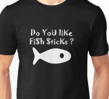 Iskybibblle Products Do you like Fish Sticks/White plain plus fish Unisex T-Shirt