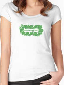 St Patricks Day Clovers Women's Fitted Scoop T-Shirt
