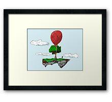 Floating Rock balloon Framed Print