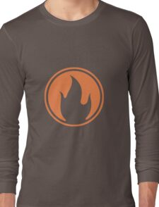 TF2 Black Pyro Emblem Long Sleeve T-Shirt