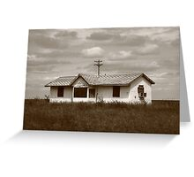 Route 66 - Abandoned Farm House Greeting Card