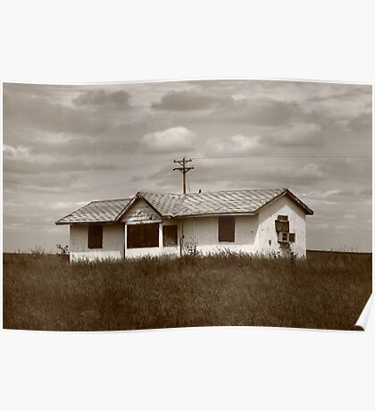 Route 66 - Abandoned Farm House Poster