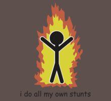 I Do All My Own Stunts One Piece - Short Sleeve