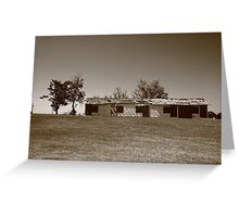 Route 66 - Abandoned Motel Greeting Card
