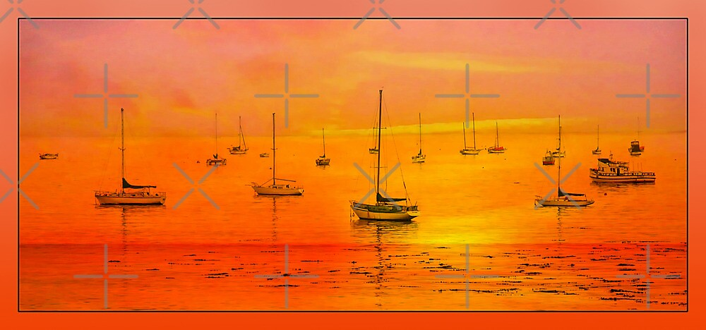 Avila Bay Sunset Pano  by CarolM