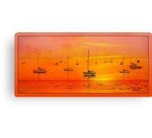 Avila Bay Sunset Pano  Canvas Print
